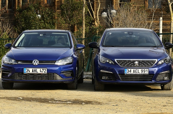 Volkswagen Golf Peugeot 308 karşılaştırma 2018