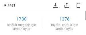 Renault Megane Toyota Corolla Anketi