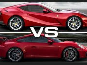 Ferrari Porsche karşılaştırma