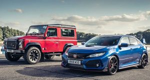 Honda Civic Type-R vs Defender V8