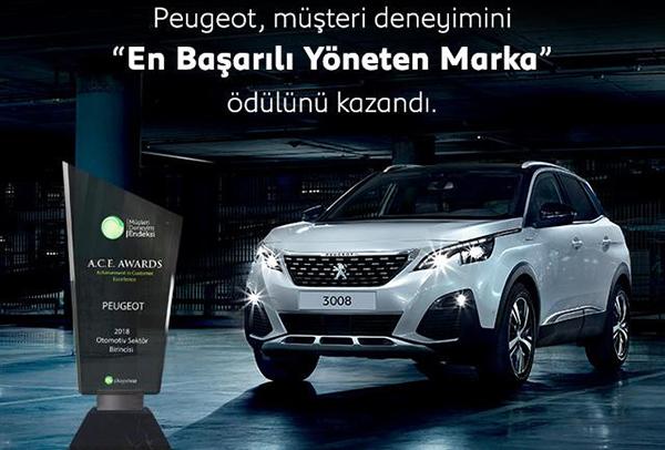 Peugeot müşteri ödülü