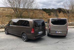 Ford Tourneo Custom Mercedes Vito karşılaştırma