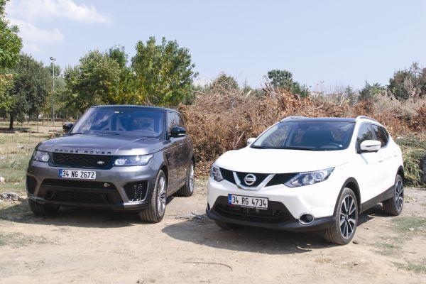 Bir Range Rover mı haftanın her gününe farklı Nissan Qashqai mi?