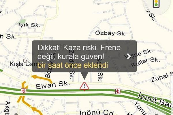 Yandex Navigasyon sesi kazaları önlemek için işbaşı yaptı