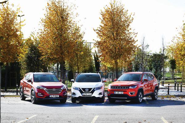 Hyundai Tucson vs Nissan Qashqai vs Jeep Compass