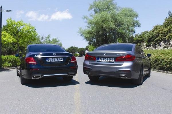 otostil karşılaştırmasında BMW 5 Mercedes E'ye kafa tutuyor