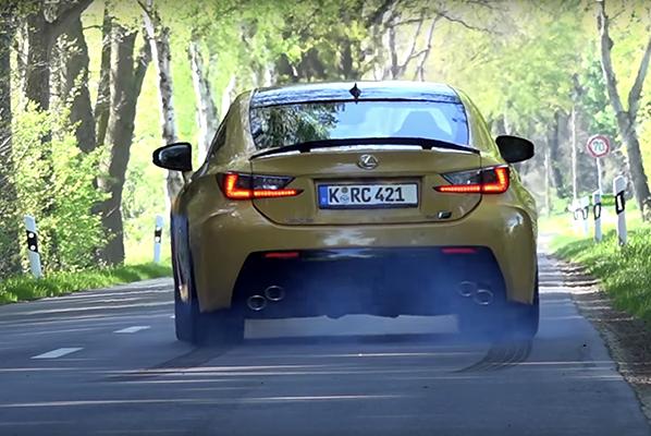 Lexus RC F Carbon 0'dan hızlanma videosu