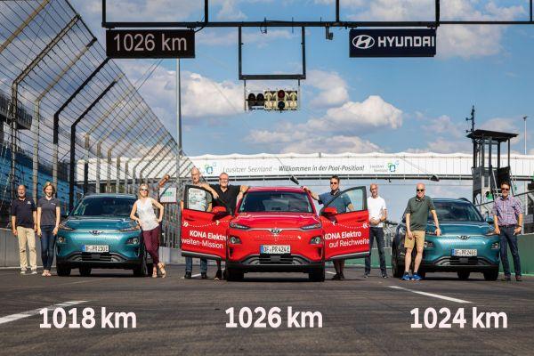 Elektriklilerde menzil rekoru 1026 km ile Hyundai'den geldi