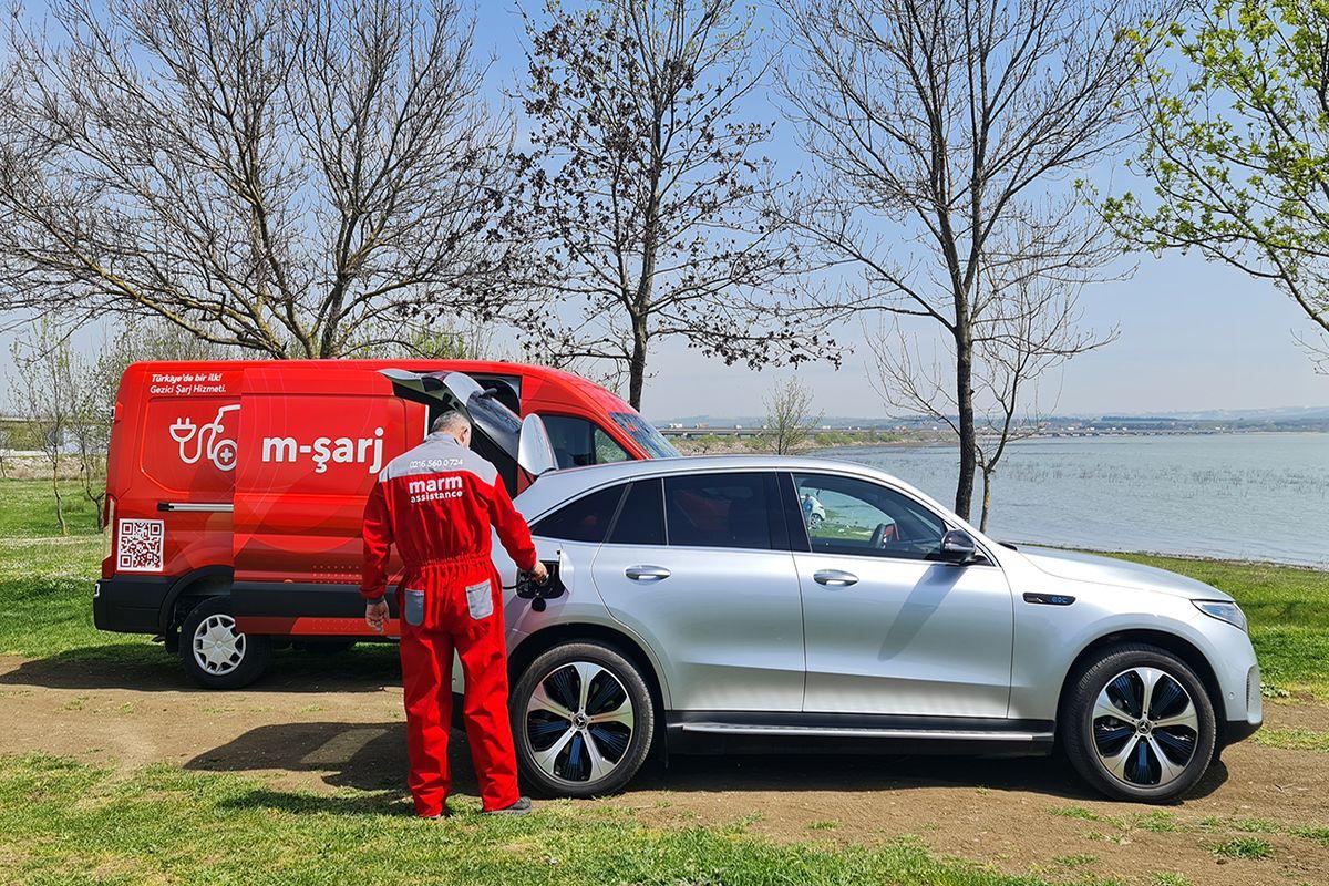 Elektrikli araçlar için gezici şarj hizmeti: m-şarj
